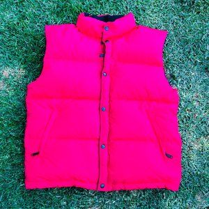 Vintage The North Face TNF Red Puffer Vest L